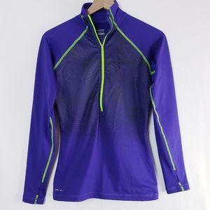 Nike Pro Dri-Fit Purple Pull On Running Top M
